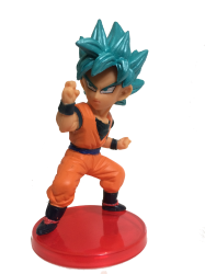 Goku Deus Super Sayajin Blue - Miniatura Colecionável 7cm - Dragon Ball Super