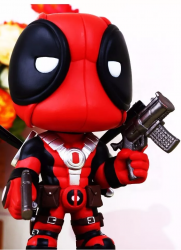 Deadpool - Figura Colecionável Bobble Head 13cm