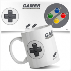 Caneca Joystick Nintendo - Gamer Needs Coffee