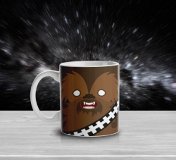 Caneca Geek Side Faces - Chewbacca