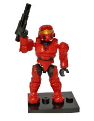 UNSC Spartan MARK IV Red - Minifigura Halo Heroes Series