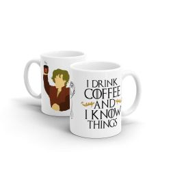 Caneca Beek - I Drink Coffee and I Know Things - Game Of Thrones