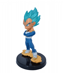Vegeta Deus Super Sayajin Blue - Miniatura Colecionável 7cm - Dragon Ball Super