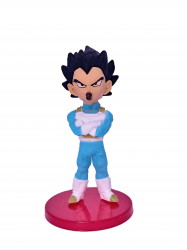 Vegeta com Chupeta - Miniatura Colecionável 7cm - Dragon Ball Super