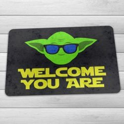 Capacho Eco Slim 3mm Yoda Cool - Welcome You Are (60x40cm) - Star Wars