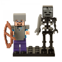 Stevie e Esqueleto Wither - Minifigura de Montar Minecraft