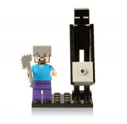 Stevie e Enderman - Minifigura de Montar Minecraft