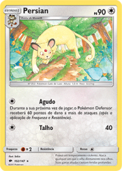 Persian (102/147) - Carta Avulsa Pokemon