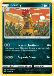 Scrafty (138/236) REV, FOIL - Carta Avulsa Pokemon